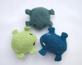Eugene the Frog - Cat Toy Hand Knit Felted Wool with Organic Catnip