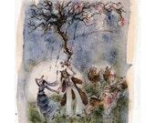 Illustration - Bearskin // Limited Edition Art Print // Grimms Fairy Tale Book Bear Wedding