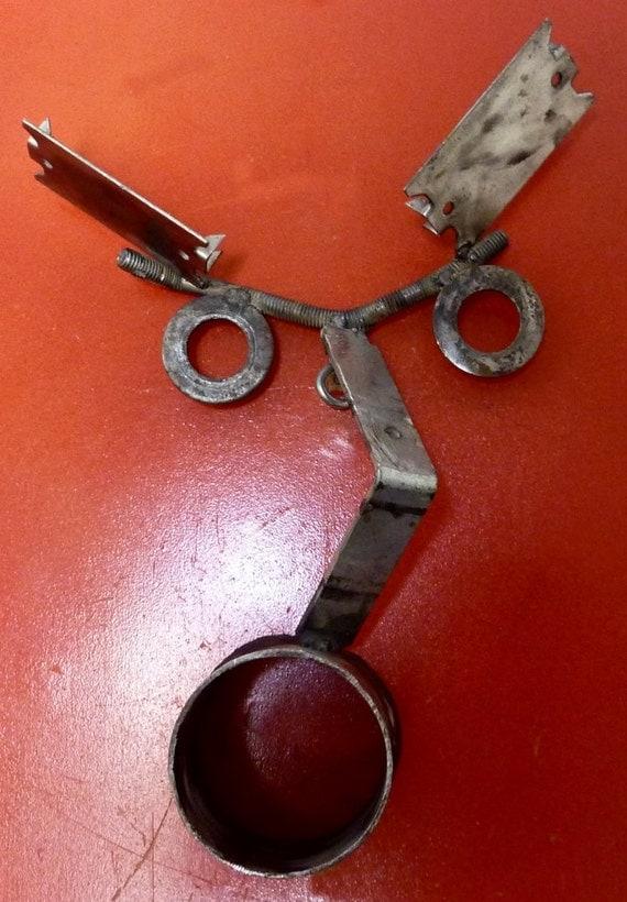 Owl original metal art sculpture