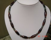Red Tiger Eye Necklace and Earrings
