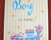 Vintage Baby Boy Birth Announcements