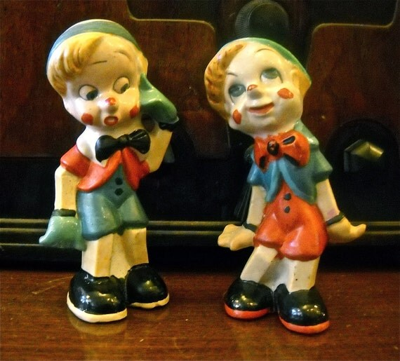 Vintage Japan Pinocchio Salt and Pepper Shakers