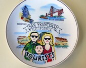 Tourist Family in San Francisco Plate