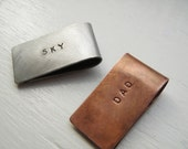 Custom Add-On Service Custom Stamping of Your Money Clip