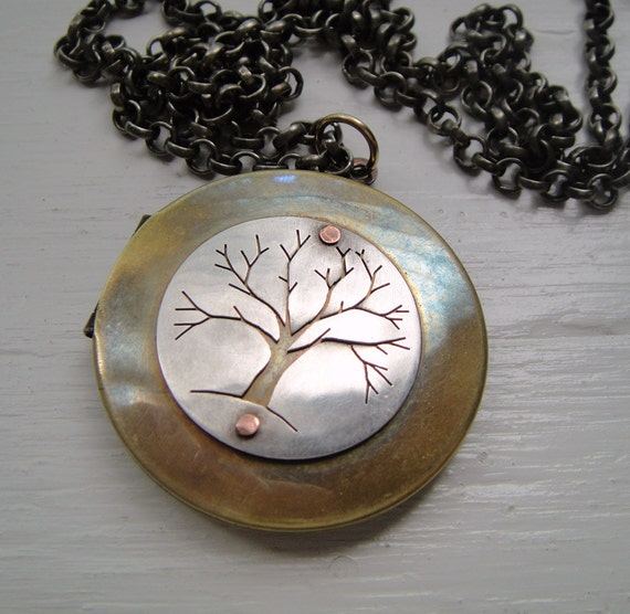 Tree Large Vintage Locket