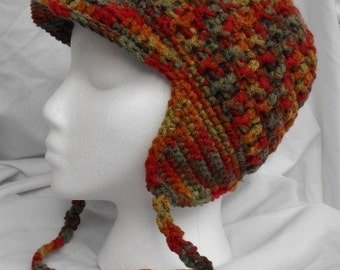 Ladies Snowboard Hat with Brim and Earflaps
