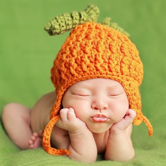Photo Prop Pumpkin Hat for Baby or Toddler