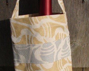 Gold Silver Shells Summer Party Wine Bag