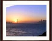 Golden Gate Sunset- Fine Art Print