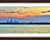 Minneapolis, MN Calhoun Skyline at Sunrise - Fine Art Print