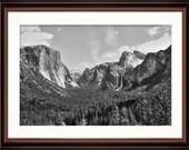 Yosemite National Park Tunnel View - Fine Art Print