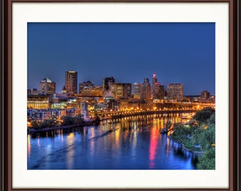 St. Paul, MN Skyline - Fine Art Print