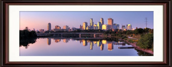Minneapolis, MN Skyline at Sunrise - Fine Art Print