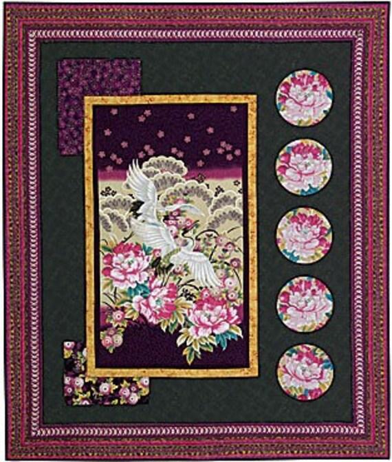 Items Similar To Sakura Asian Fabric Panel Quilt Starter