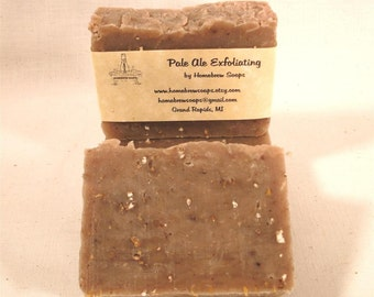 Pale Ale Homebrewed Beer Bath Bar of Soap with Exfoliating Grain