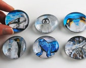 Winter Critter Bubble Magnets, Set of 6