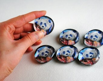 Panda Bubble Magnets, Set of 6