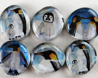 Penguin Bubble Magnets, Set of 6