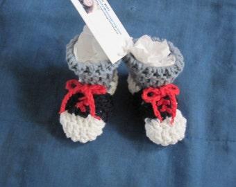 Saddle shoe Cotton Crochet Baby booties