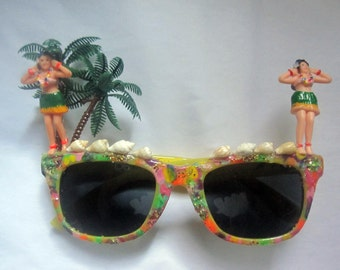 Fantasy Painted Hawaiian Hula Sunglasses