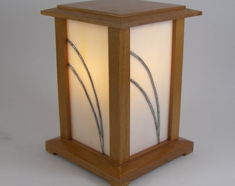 Arts and Crafts Accent Lamp Oak