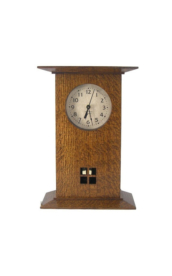 Arts and crafts mission clock for Arts and crafts mantle clock