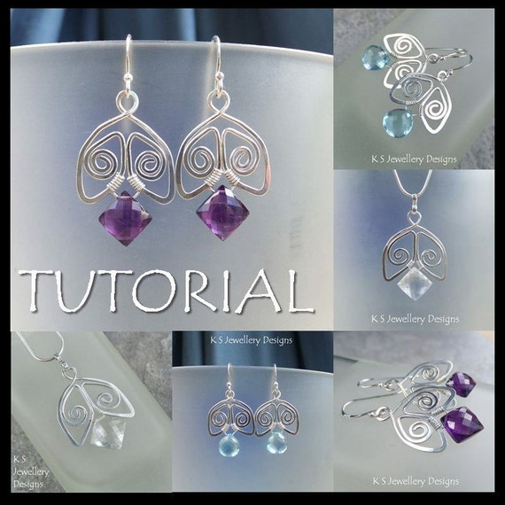 Wire Jewelry Tutorial - SPIRAL BELLS (Earrings and Pendants) - Step by Step Wire Wrapping Wirework Instructions - Instant Download