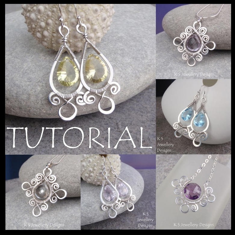 Wire jewelry tutorial spiral loop frames earrings for Starting a jewelry business in canada