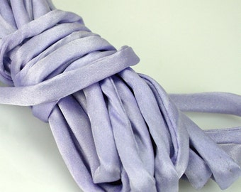"1/4"" Silk Cord 3 yds Hand Dyed Lavender"