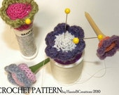 Floral Pin Cushion Crochet Pattern Tutorial Made with a Real Golf Tee