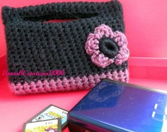 Crochet Pattern PDF for Nintendo DS Lite -Case for Girls with Flower