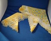 vintage yellow hankies