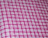 RESERVED FOR CINDI  5 Yards of this fabric.  Michael Miller Fabric. Pink Purple Fuchsia Plaid. Quilting. Dressmaking.