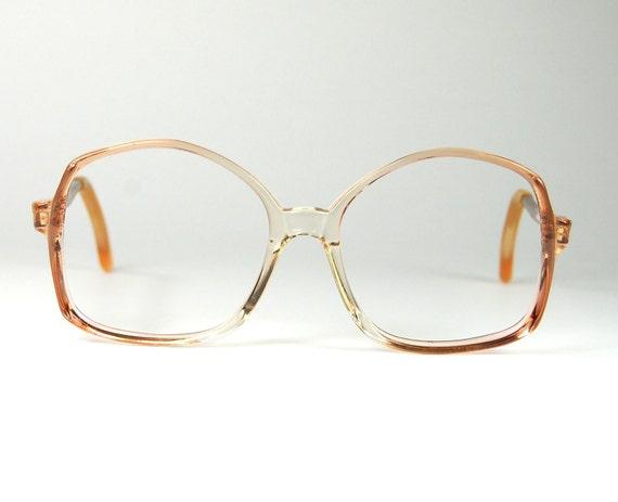 Glasses Frame Made In Usa : Vintage Mod 70s Oversized Pink Salmon Eyeglass Frames made
