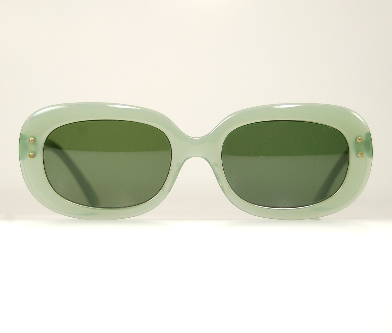 1960s Vintage aqua green jade Grace Kelly sunglasses