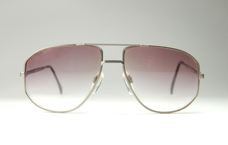 Aviator Eyeglasses Frame : Vintage AVIATOR Eyeglass Metal Frames by SILHOUETTE made in