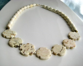 White Turquoise Statement Necklace