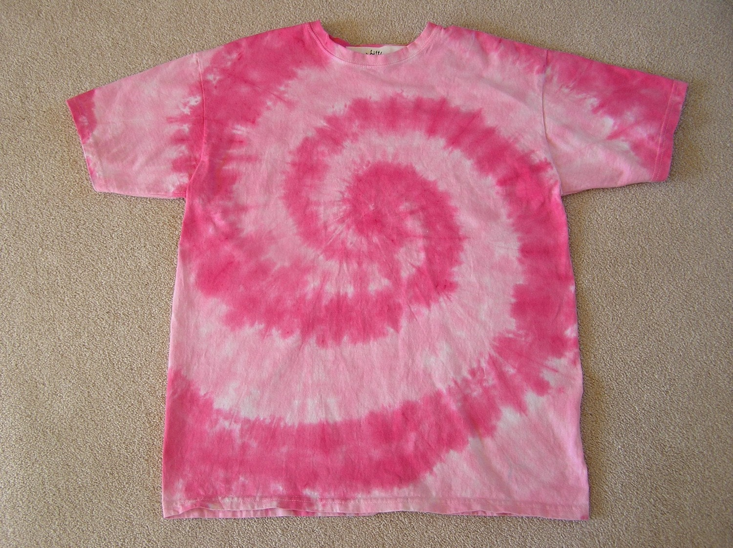 Custom order tie dye t shirt charity pink long sleeve for Customized tie dye shirts