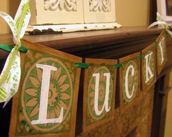LUCKY St. Patricks Banner, Garland