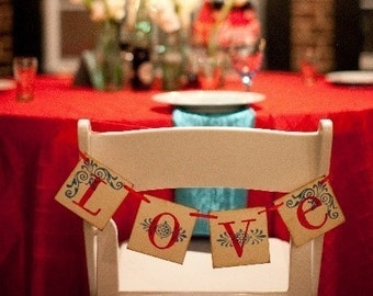 Custom LOVE Wedding Banner Garland Sign