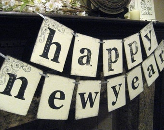 New Year Party Decoration HAPPY NEW YEAR Banner