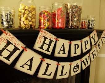 halloween banner decoration, sign, banner, photoprop