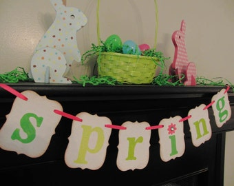 spring decoration banner sign garland swag