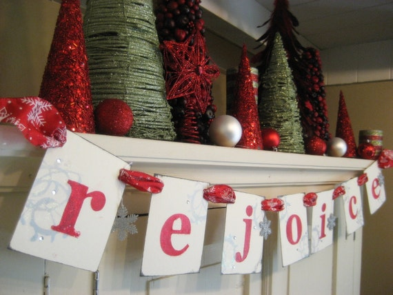 Rejoice christmas banner by bekahjennings on etsy for Arland decoration