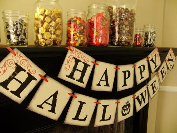 halloween banner decoration, sign, banner, photoprop