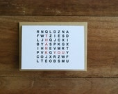 Word Find - Personalized Greeting Card