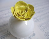The Charming Yellow Rose Bud Vase