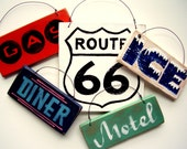 Route 66 Mini Sign Set