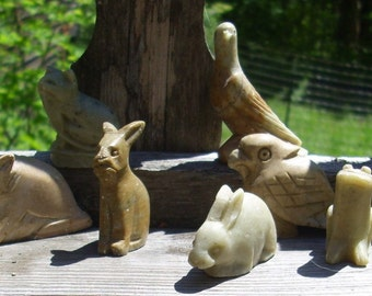 Vintage Animal Stone Whistles one per order