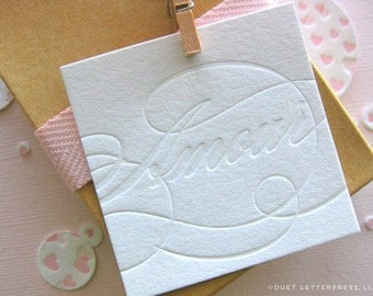 letterpress amour tags